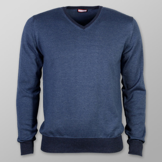 Men sweater Willsoor (size to 5XL) 7876 in blue color