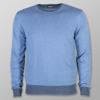 Men sweater Willsoor 7884 in blue color