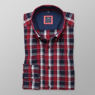Men classic shirt London (height 188-194) 7919 with coloured checked
