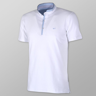 Men polo t-shirt Willsoor 7943 in white color