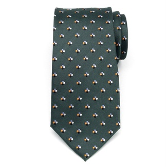 Men silk tie (pattern 356) 7958 in green color