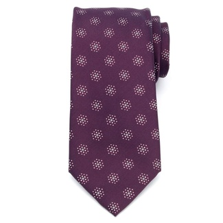 Men classic tie of microfiber (pattern 1276) 7981 in burgundy color