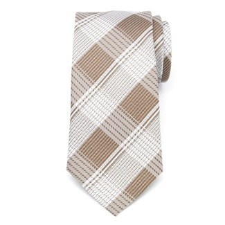 Men classic tie of microfiber (pattern 1281) 7986 with checked
