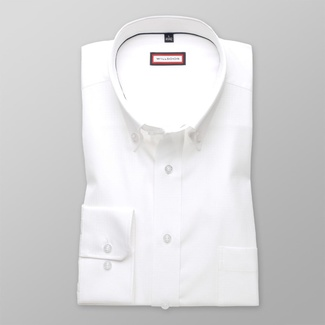 Men classic shirt (height 176-182) 8131 in white color