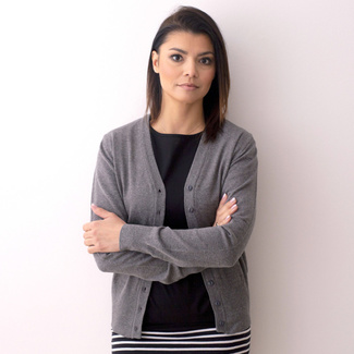 Women's sweater Willsoor 8133 in gray color