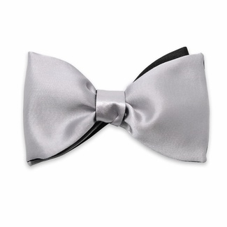 Men classic tied butterfly Willsoor 8156 in silver color, Willsoor