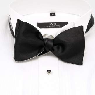 Men classic tied butterfly Willsoor 8157 in black color, Willsoor