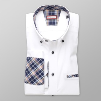 Men CLASSIC CUT shirt London (height 188-194) 8228 in white color with the EASY CARE treatment