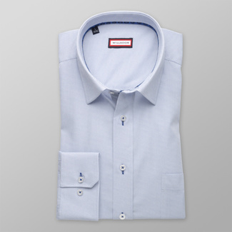 Men classic shirt (height 176-182) 8248 in white color with pattern
