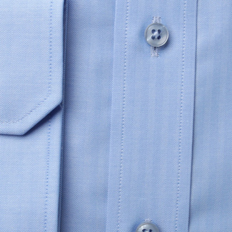 Men classic shirt London (all height) 8257 in blue color with adjusting 2ply  2-ply