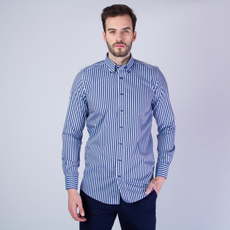 Men's Classic Shirt London (height 176-182) 8266 with stripes