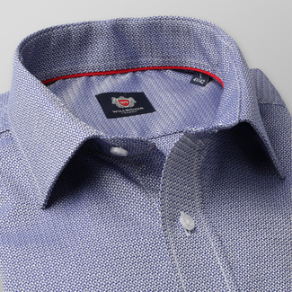 Men slim fit shirt London (height 176-182) 8275 in blue color with adjusting 2W Plus