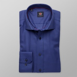Men slim fit shirt London (height 176-182) 8309 in blue color with adjusting 2ply  2-ply