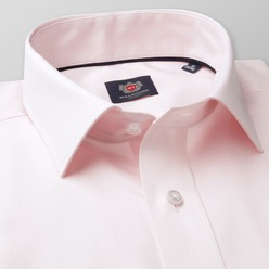 Men slim fit shirt London (height 176-182) 8327 in pink color with adjusting easy care