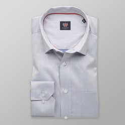 Men classic shirt London (height 176-182) 8330 in gray color with adjusting easy care