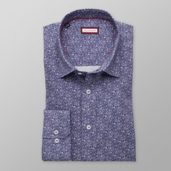 Men classic shirt (height 176-182) 8341 in blue color with pattern