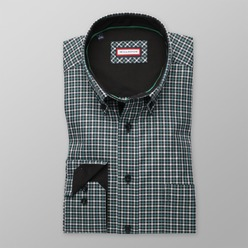 Men's checkered classic shirt (height 176-182) 8351 2-ply