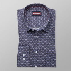 Men classic shirt (height 176-182) 8357 in blue color with added elastane
