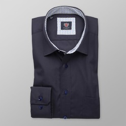 Men slim fit shirt London (all height) 8378 in dark blue color
