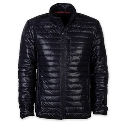 Men quilted jacket Willsoor 8381 in blue color with glossy effect