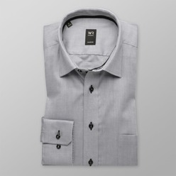 Men slim fit shirt (height 176-182) 8390 in gray color with adjusting easy care