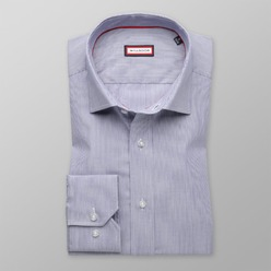 Men's blue slim fit shirt (height 176-182) 8424 Easy care