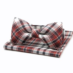 Men's checkered pre-tied bow Willsoor 8429, Willsoor