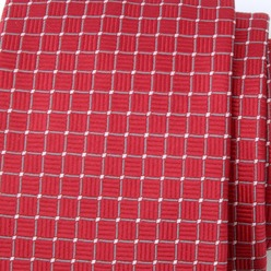 Men classic tie (height 1297) 8452 in red color with checked pattern, Willsoor