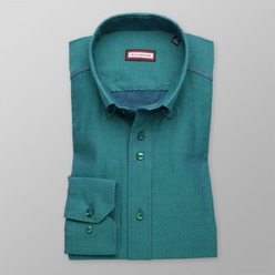 Men's green slim fit shirt (height 176-182) 8489