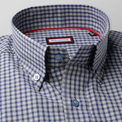 Men's checkered classic shirt (height 176-182) 8496 2-ply