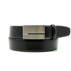 Men's black leather belt Willsoor 8528