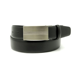 Men's black leather belt Willsoor 8529