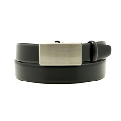 Men's black leather belt Willsoor 8538