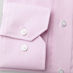 Men slim fit shirt (height 176-182) 8546 in pink color with strip