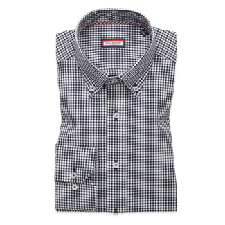 Men slim fit shirt (height 176-182) 8550 with checked