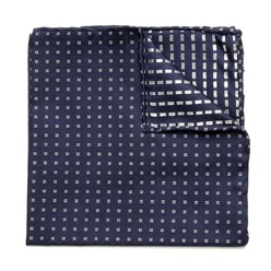 Men's Pocket Square Willsoor (pattern 120) 8556 Blue, Willsoor