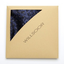 Men's Pocket Square Willsoor  (pattern 123) 8559 Blue, Willsoor
