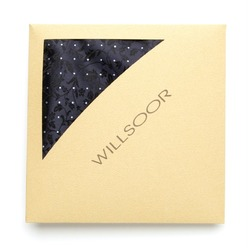 Men's Pocket Square Willsoor (pattern 124) 8560 Dark Blue, Willsoor