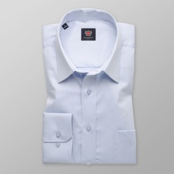 Men classic shirt London (height 198-204) 8564 in blue color with adjusting 2W Plus