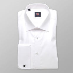 Men slim fit shirt London (height 198-204) 8565 in white color with 2W Plus treatment