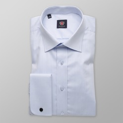 Men classic shirt London (height 198-204) 8568 in blue color with adjusting 2W plus