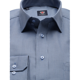 Men slim fit shirt London (height 176-182) 8575 in blue color with adjusting easy care, Willsoor