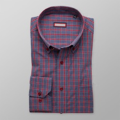 Men classic shirt (height 188-194) 8614 in gray color
