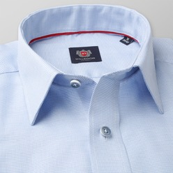 Men's light blue classic shirt London (height 176-182) 8620  2-ply