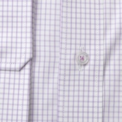 Men's white checkered classic shirt London (height 176-182) 8633