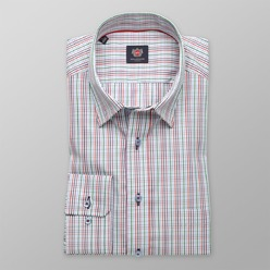 Men's colorful check classic shirt London  (height 176-182) 8638 Easy care, 2-ply