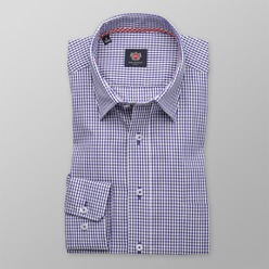 Men's checkered slim fit shirt London (height 176-182) 8649 2W Plus