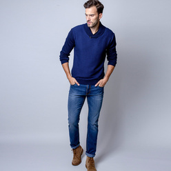 Men's dark blue sweater Willsoor 8652