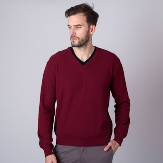 Men sweater Willsoor 8656 in claret color