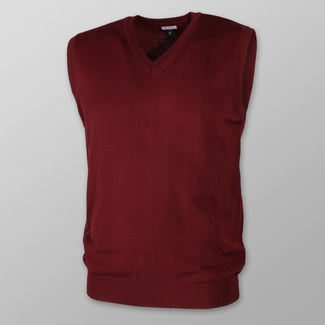 Men vest Willsoor 8657 in claret color